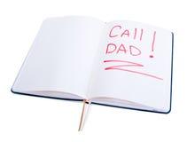 λέξεις ημερολογίων μπαμπάδων κλήσης Στοκ Φωτογραφία