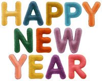 Λέξεις καλής χρονιάς που απομονώνονται στο μαύρο υπόβαθρο Στοκ φωτογραφία με δικαίωμα ελεύθερης χρήσης