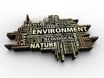 λέξεις περιβάλλοντος απεικόνιση αποθεμάτων