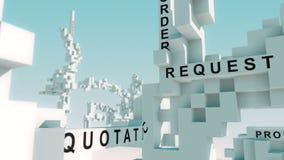 Λέξεις που ζωντανεύουν επιχείρηση--κυβερνητικές με τους κύβους απεικόνιση αποθεμάτων