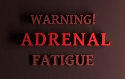 Λέξεις που προειδοποιούν την επινεφρίδιο κούραση απεικόνιση αποθεμάτων