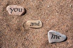 Λέξεις στις πέτρες Στοκ εικόνες με δικαίωμα ελεύθερης χρήσης