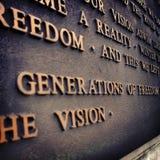 Λέξεις της έμπνευσης Στοκ φωτογραφίες με δικαίωμα ελεύθερης χρήσης