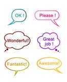 Λέξεις της εκτίμησης για τους καλούς ανθρώπους Στοκ Εικόνες