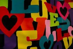 Λέξεις χρώματος αγάπης Στοκ εικόνα με δικαίωμα ελεύθερης χρήσης