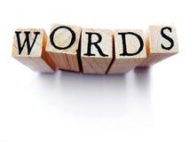 λέξεις Στοκ εικόνα με δικαίωμα ελεύθερης χρήσης
