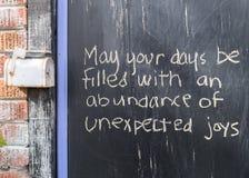 Λέξεις Uplifting Στοκ φωτογραφίες με δικαίωμα ελεύθερης χρήσης