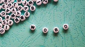 Λέξη λέξης που γίνεται με το φραγμό Στοκ Εικόνες