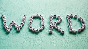 Λέξη λέξης που γίνεται με το φραγμό Στοκ φωτογραφίες με δικαίωμα ελεύθερης χρήσης