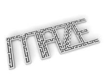 Λέξη λαβυρίνθου Στοκ εικόνα με δικαίωμα ελεύθερης χρήσης