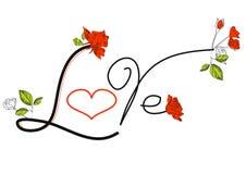 λέξη αγάπης απεικόνιση αποθεμάτων