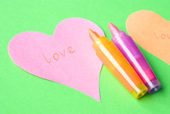 λέξη αγάπης Στοκ εικόνες με δικαίωμα ελεύθερης χρήσης