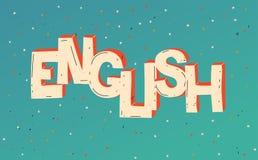 Λέξη αγγλικά Μάθετε τη ξένη γλώσσα o o διανυσματική απεικόνιση