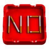 Λέξη αριθ. ashtray Στοκ εικόνα με δικαίωμα ελεύθερης χρήσης