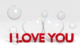 λέξη βαλεντίνων αγάπης καρδιών ελεύθερη απεικόνιση δικαιώματος