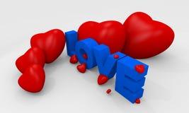 λέξη βαλεντίνων αγάπης καρ&de απεικόνιση αποθεμάτων