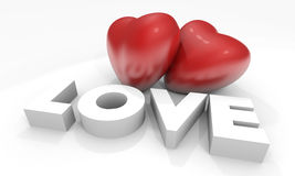 λέξη βαλεντίνων αγάπης καρ&de ελεύθερη απεικόνιση δικαιώματος