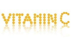 Λέξη βιταμίνης C Στοκ φωτογραφία με δικαίωμα ελεύθερης χρήσης
