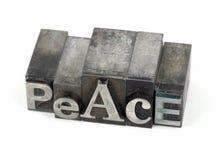 λέξη ειρήνης μετάλλων στοκ φωτογραφία με δικαίωμα ελεύθερης χρήσης