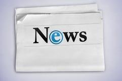 Λέξη ειδήσεων Στοκ Εικόνες