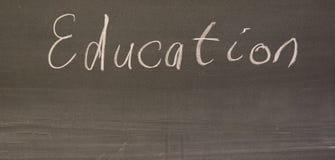 λέξη εκπαίδευσης χαρτον& Στοκ φωτογραφία με δικαίωμα ελεύθερης χρήσης