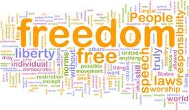 λέξη ελευθερίας σύννεφω& Στοκ φωτογραφία με δικαίωμα ελεύθερης χρήσης
