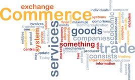 λέξη εμπορίου σύννεφων διανυσματική απεικόνιση