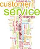 λέξη εξυπηρέτησης πελατών σύννεφων Στοκ Εικόνα