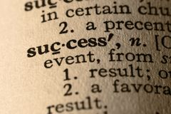 λέξη επιτυχίας Στοκ Φωτογραφίες