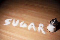 λέξη ζάχαρης Στοκ φωτογραφίες με δικαίωμα ελεύθερης χρήσης