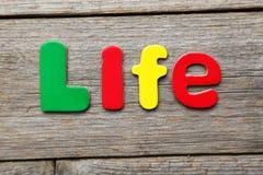 Λέξη ζωής στοκ φωτογραφίες με δικαίωμα ελεύθερης χρήσης