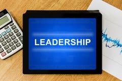 Λέξη ηγεσίας στην ψηφιακή ταμπλέτα Στοκ εικόνα με δικαίωμα ελεύθερης χρήσης