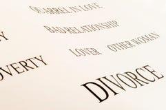 Λέξη διαζυγίου Στοκ φωτογραφία με δικαίωμα ελεύθερης χρήσης