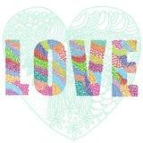 Λέξη καρδιών αγάπης Στοκ φωτογραφίες με δικαίωμα ελεύθερης χρήσης