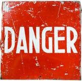 λέξη κινδύνου Στοκ Φωτογραφίες