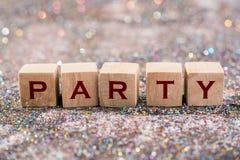 Λέξη κόμματος στοκ φωτογραφία με δικαίωμα ελεύθερης χρήσης