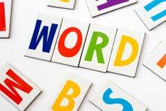 Λέξη λέξης φιαγμένη από ζωηρόχρωμες επιστολές Στοκ φωτογραφία με δικαίωμα ελεύθερης χρήσης