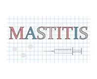 Λέξη μαστίτιδας στο ελεγμένο φύλλο εγγράφου διανυσματική απεικόνιση