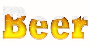 Λέξη μπύρας Στοκ Φωτογραφίες