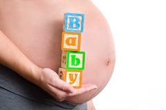 Λέξη μωρών εκμετάλλευσης εγκύων γυναικών Στοκ εικόνες με δικαίωμα ελεύθερης χρήσης