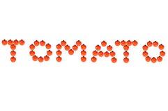 λέξη ντοματών στοκ εικόνες με δικαίωμα ελεύθερης χρήσης