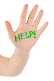 λέξη οδηγιών χεριών στοκ φωτογραφίες με δικαίωμα ελεύθερης χρήσης