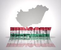 Λέξη Ουγγαρία σε ένα υπόβαθρο χαρτών Στοκ Εικόνες