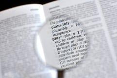 λέξη παιχνιδιού στοκ φωτογραφία με δικαίωμα ελεύθερης χρήσης