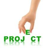 λέξη προγράμματος χεριών Στοκ φωτογραφία με δικαίωμα ελεύθερης χρήσης