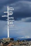 λέξη σημαδιών κατεύθυνσης Στοκ Εικόνες