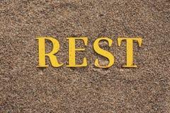 Λέξη στην άμμο Στοκ Εικόνα