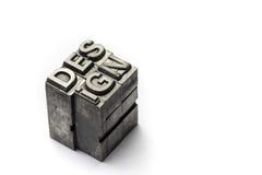 Λέξη σχεδίου, letterpress κεφαλαίο γράμμα Στοκ Εικόνες