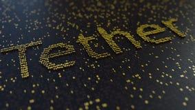 Λέξη σχοινιών φιαγμένη από χρυσούς αριθμούς, τρισδιάστατη απόδοση Στοκ φωτογραφίες με δικαίωμα ελεύθερης χρήσης