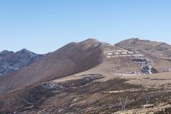 Λέξη το ερωτικό τραγούδι σε Kangding στο βουνό Zheduo Στοκ Φωτογραφίες